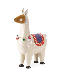 White Llama Garden Decoration