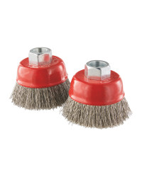 Wire Cup Brush Crimped 2 Piece