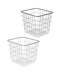 Wire File Storage Basket