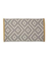 Wool Rich Doormat - Grey & Yellow