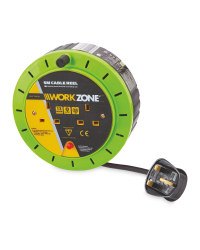 Workzone 5M Cable Reel - Green