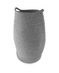 Cotton Rope Laundry Basket - Black & White