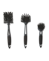 Kirkton House Kitchen Brush 3 Pack - Black