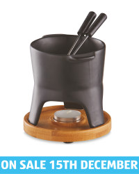 Kirkton House Fondue Gift Set - Black