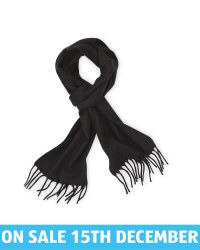Avenue Men's Woven Scarf - Black