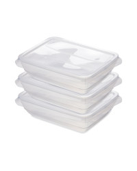 Fresh & Freeze Boxes 1000ml 3 Pack - Clear