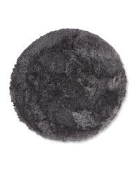 Round Soft Shaggy Rug - Dark Grey