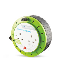 Workzone 5 Metre Cable Reel - Green