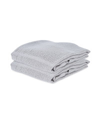 Small Cellular Blanket 2 Pack - Grey