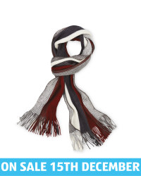 Avenue Men's Rochelle Scarf - Grey/Red
