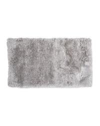 Rectangular Soft Shaggy Rug - Light Grey