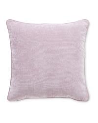 Plain Velvet Effect Cushion - Mauve