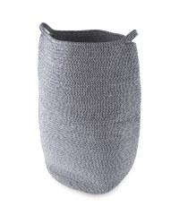 Cotton Rope Laundry Basket - Navy & White