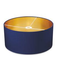 Shade With Metallic Lining 45 x 20cm - Navy