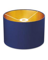 Metallic Lined Lampshade 30 x 20cm - Navy