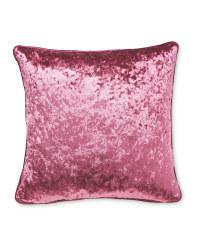 Crushed Velvet Effect Cushion - Pink