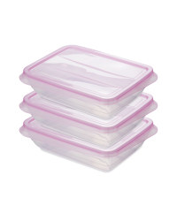 Fresh & Freeze Boxes 1000ml 3 Pack - Pink