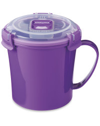 Sistema Microwave Soup Mug - Purple