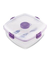 Sistema Salad Max To Go Lunch Box - Purple