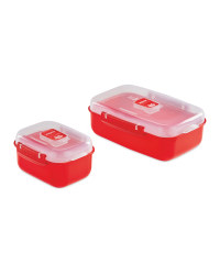 Heat and Eat Container 2 Pack - Red