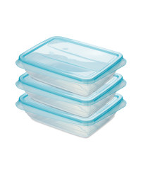 Fresh & Freeze Boxes 1000ml 3 Pack - Teal