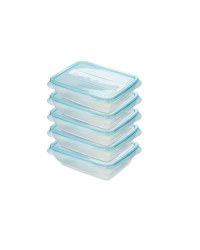 Fresh & Freeze Boxes 500ml 5 Pack - Teal