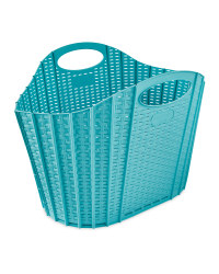 Addis Fold Flat Laundry Basket - Teal