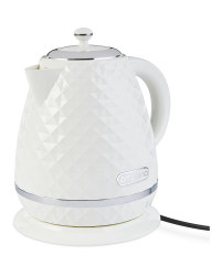 Ambiano Rapid Boil Textured Kettle - White