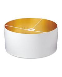 Shade With Metallic Lining 45 x 20cm - White