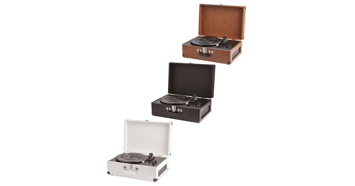 bauhn vintage suitcase turntable deal at aldi offer calendar. Black Bedroom Furniture Sets. Home Design Ideas