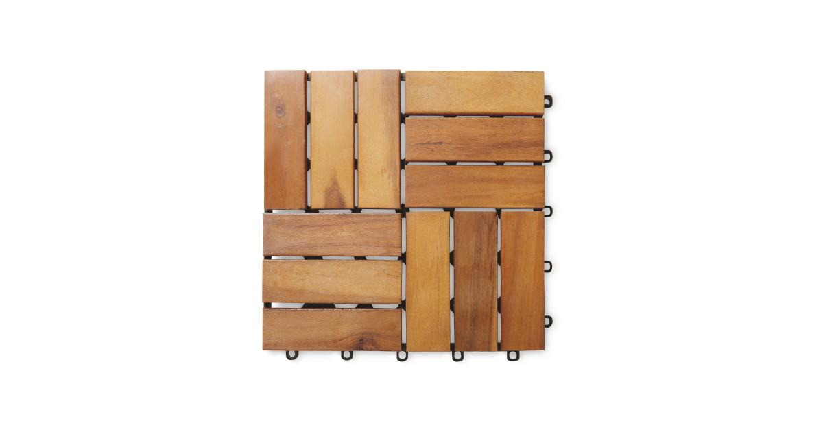Gardenline Wooden Decking Tiles Deal At Aldi Offer Calendar