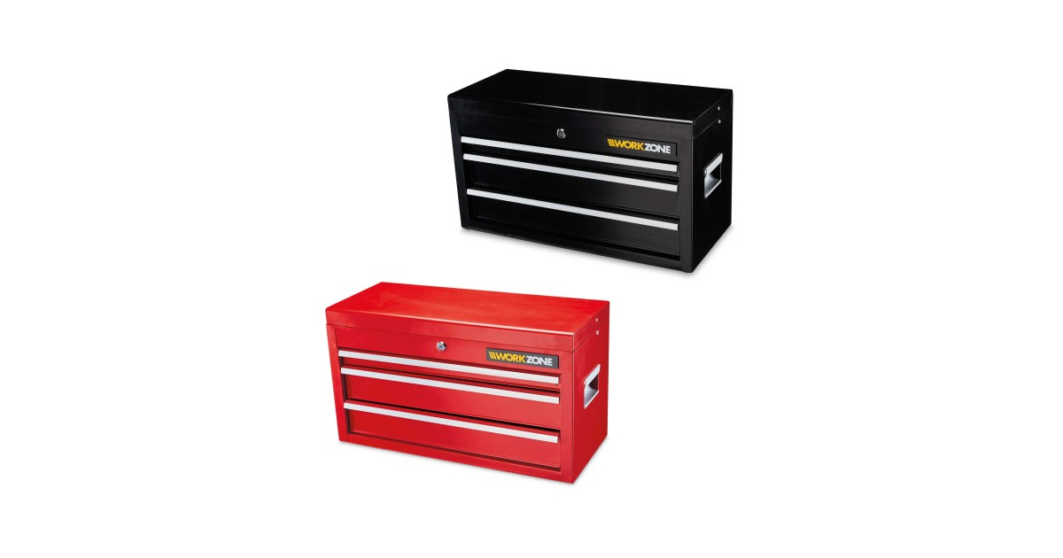 Offer Aldi Workzone 3 Drawer Tool Chest Aldi